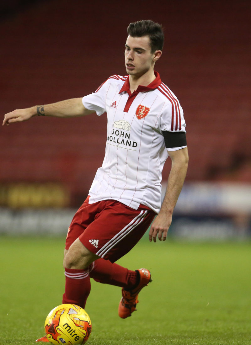 Joel Coustrain of Sheffield United - Sheffield United U21 vs Leeds United U21 - U21 Premier League Cup - Bramall Lane - Sheffield - 19/11/2015 Pic Philip Oldham/SportImage
